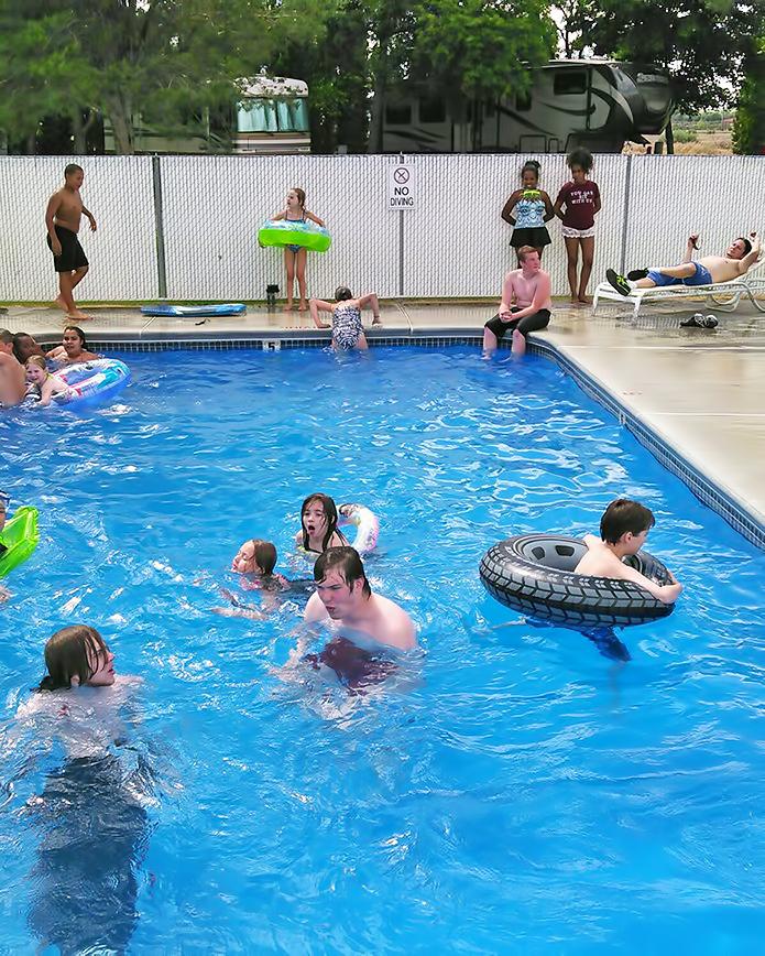 Guests enjoying our refreshing pool