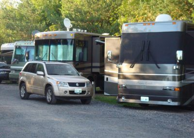 RVs in our pull-through RV sites